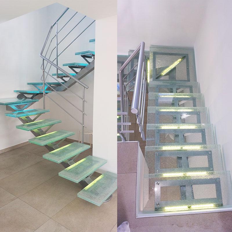 escalier en verre design fabulous devis personnalis with escalier en verre design gallery of. Black Bedroom Furniture Sets. Home Design Ideas